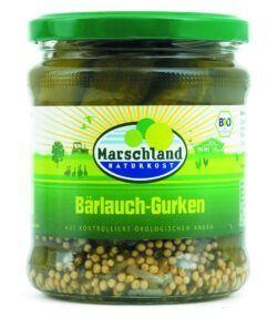 Marschland  Bioland Bio-Bärlauch-Gürkchen 370 ml Gl. MARSCHLAND 6x330g