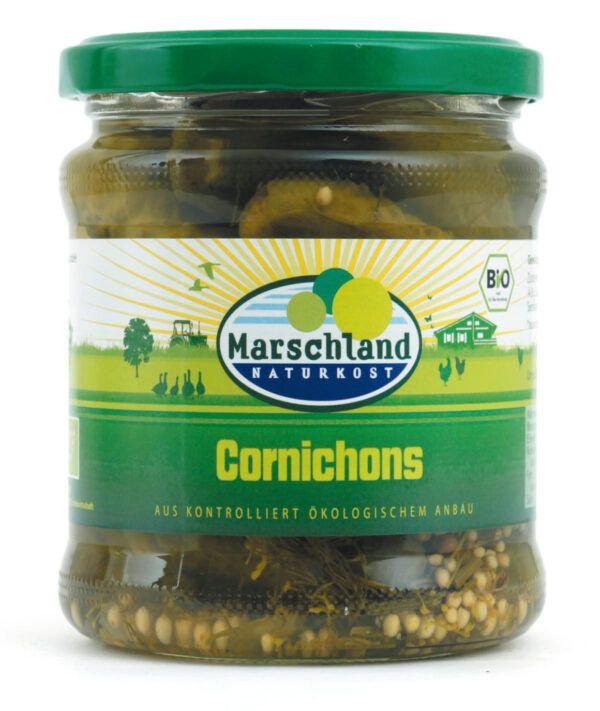 Marschland Bioland Bio-Cornichons 370 ml Gl. MARSCHLAND 330g