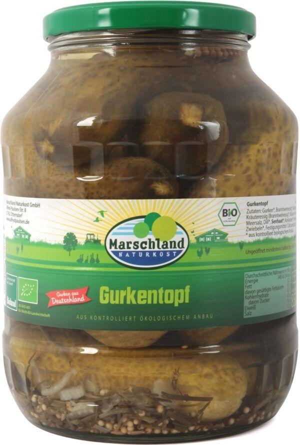 Marschland  Bioland Bio-Gurkentopf 1.700 ml Gl. MARSCHLAND 6x1550g