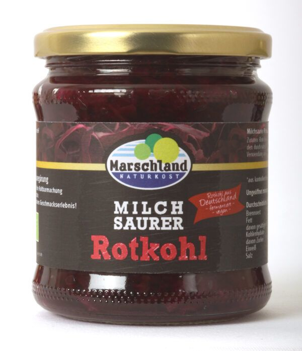 Marschland  Bioland Bio-Rotkohl milchsauer 370 ml Gl. MARSCHLAND 6x350g