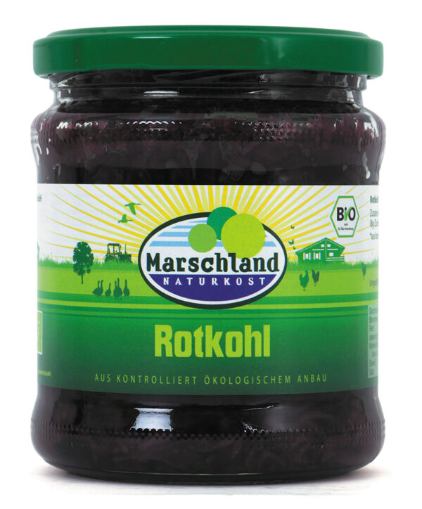 Marschland  Bioland Bio-Rotkohl 370 ml Gl. MARSCHLAND 350g