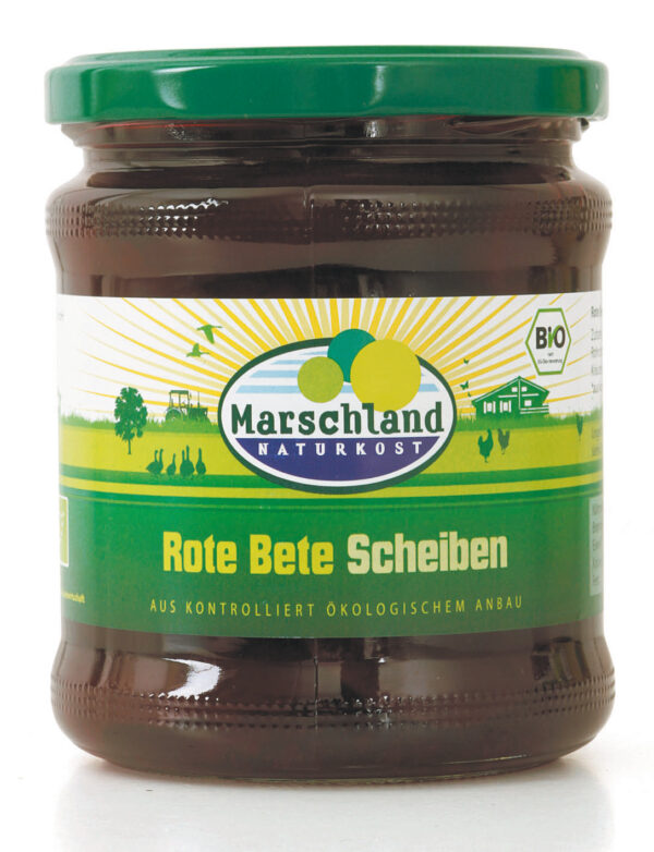 Marschland  Bioland Bio-Rote Bete Scheiben 370 ml Gl. MARSCHLAND 330g