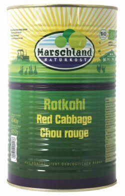 Marschland  Bioland Bio-Rotkohl 4.250 ml Ds. MARSCHLAND 4040g