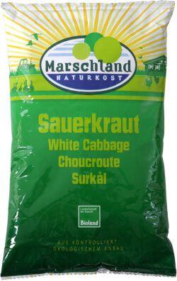 Marschland Bioland Bio-Sauerkraut 500g Folien-Btl. MARSCHLAND 520g