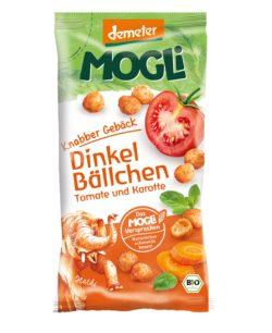 Mogli Knabber Gebäck - Dinkel Bällchen, Tomate und Karotte 10x40g