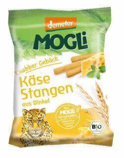Mogli Knabber Gebäck - Käse Stangen aus Dinkel 12x75g