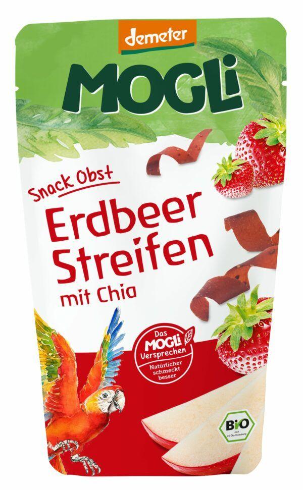 Mogli Snack Obst Erdbeer Streifen 12x25g