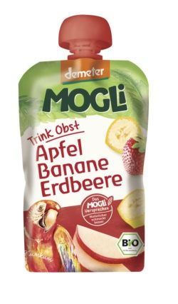 Mogli Trink Obst - Apfel, Banane, Erdbeere 6x100g