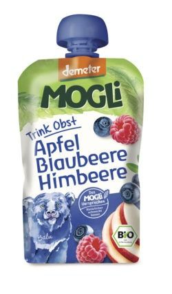 Mogli Trink Obst - Apfel, Blaubeere, Himbeere 6x100g
