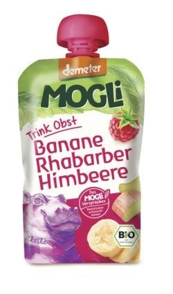 Mogli Trink Obst - Banane, Rhabarber, Himbeere 6x100g