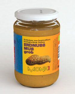 Monki Erdnussmus grob 6x650g