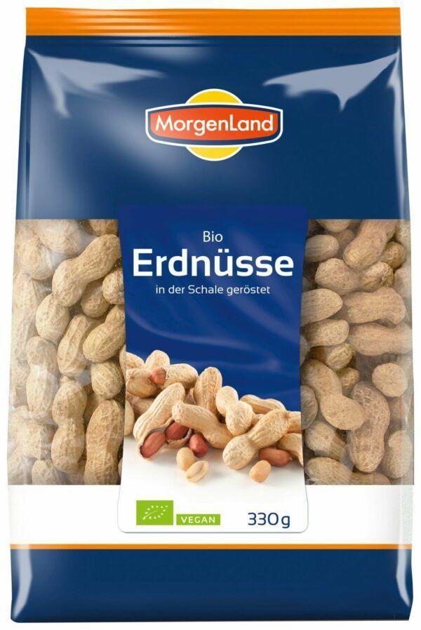MorgenLand Erdnüsse in der Schale geröstet 8x330g
