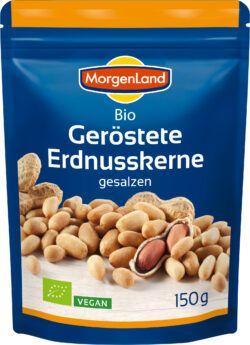 MorgenLand Erdnüsse geröstet + gesalzen 9x150g