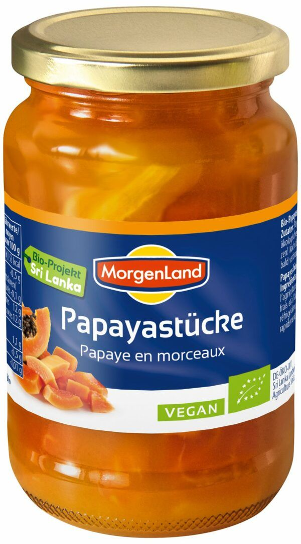 MorgenLand Papayastücke 6x370ml