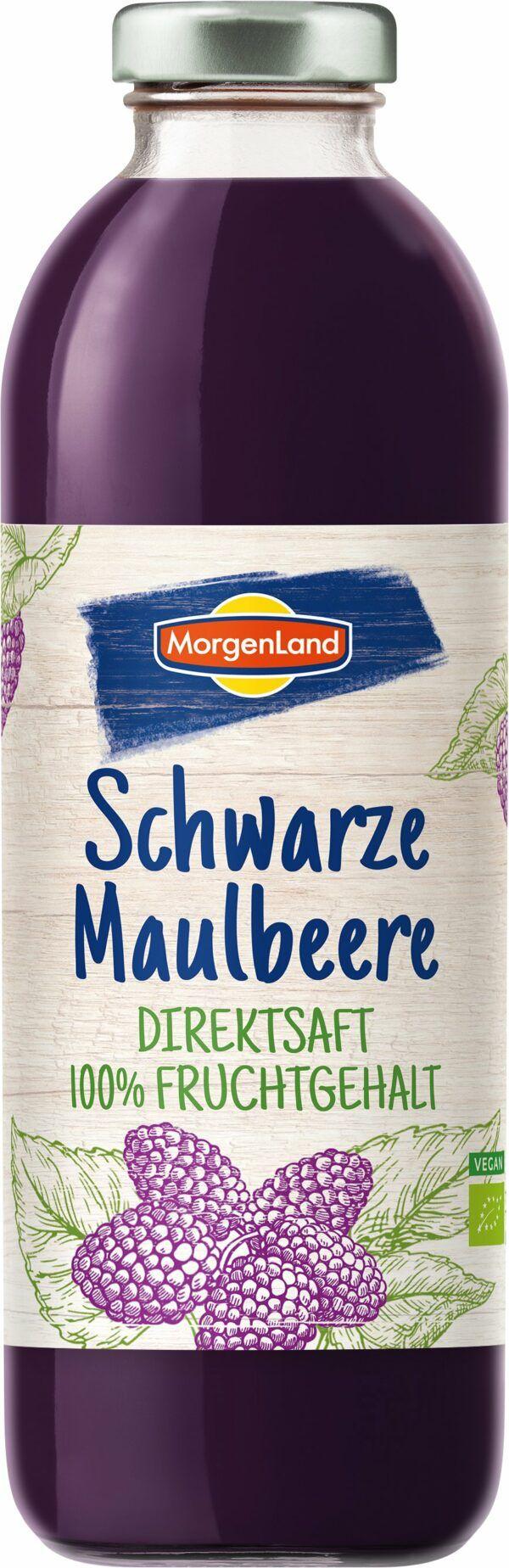 MorgenLand Schwarze Maulbeere-Direktsaft 6x0,7l