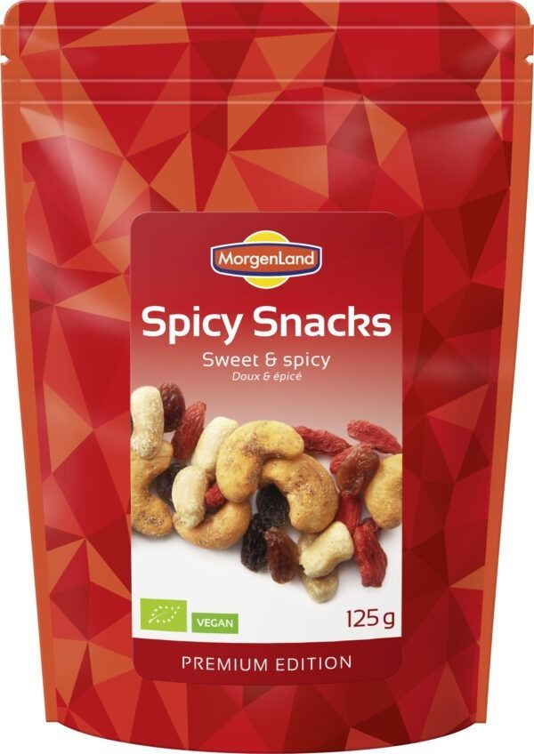 MorgenLand Spicy Snacks Sweet&Spicy 9x125g