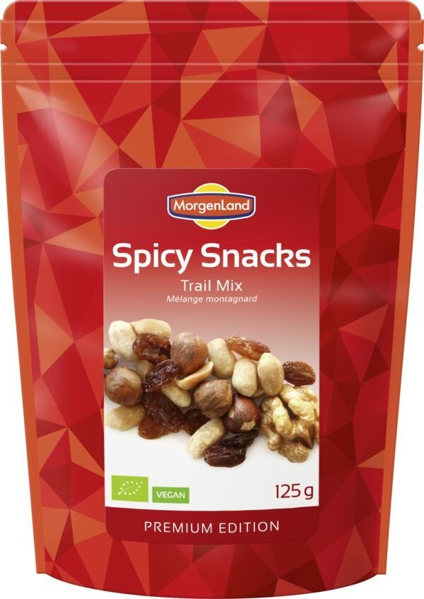 MorgenLand Spicy Snacks Trail Mix 9x125g