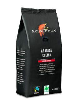 Mount Hagen Fairtrade Röstkaffee Crema, ganze Bohne 6x1kg