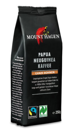 Mount Hagen Papua Neuguinea Fairtrade Röstakffee ganze Bohne 6x250g