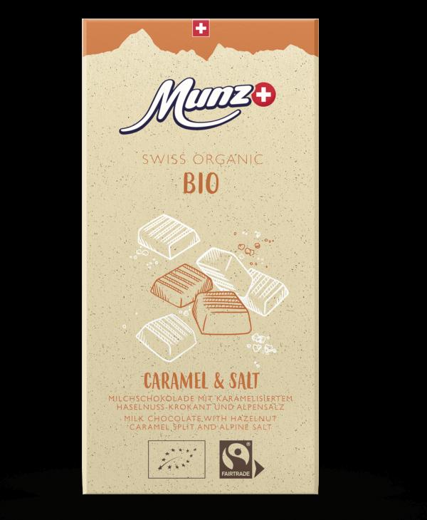 Munz Organic Caramel & Salt 12x100g