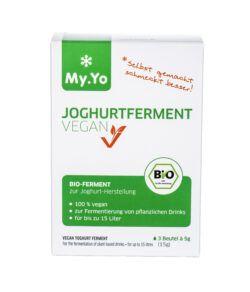 My.Yo Bio-Joghurterment Vegan, zur Herstellung von je 1L Joghurt, Inhalt: 3 Beutel à 5g 15g