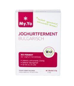My.Yo Bio-Joghurtferment Bulgarisch, zur Herstellung von je 1L Joghurt, Inhalt: 3 Beutel à 5g 15g