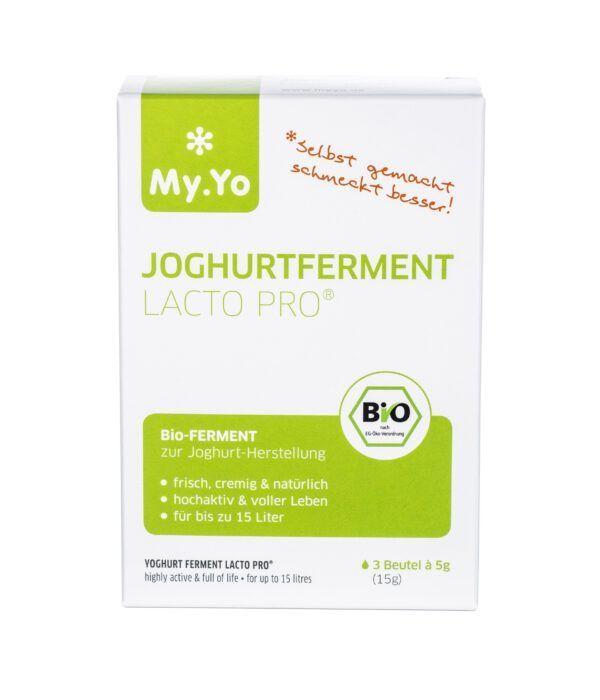 My.Yo Bio-Joghurtferment Lacto Pro®, zur Herstellung von je 1L Joghurt, Inhalt: 3 Beutel à 5g 15g