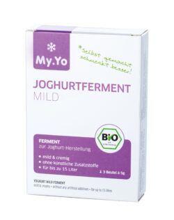 My.Yo Bio-Joghurtferment probiotisch, zur Herstellung von je 1L Joghurt, Inhalt: 3 Beutel à 5g 15g