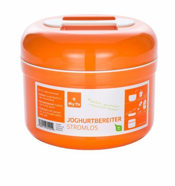 My.Yo Stromloser Joghurtbereiter für die kinderleichte Zubereitung von 1 Liter Joghurt. Bereiter kann zusätzlich zum Warmhalten / Kühlhalten von Speisen verwendet werden. 1Stück