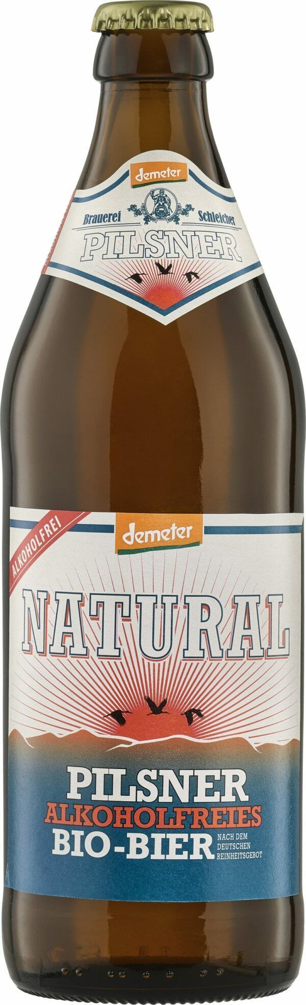 NATURAL Brauerei Schleicher Demeter Pils alkoholfrei 20x500ml