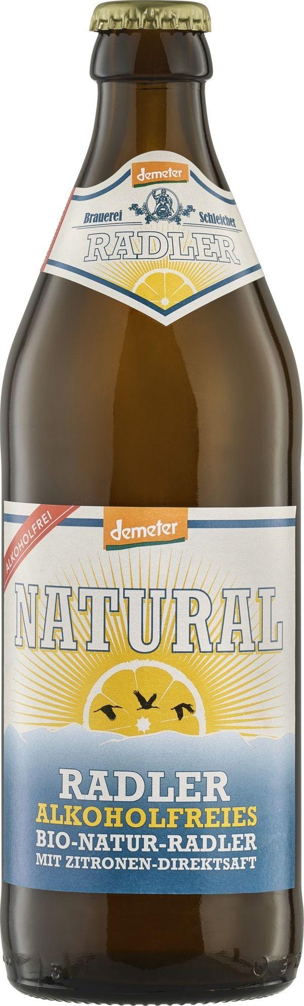 NATURAL Brauerei Schleicher Demeter Radler alkoholfrei 20x500ml