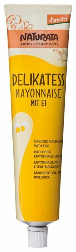 NATURATA Delikatess Mayonnaise in der Tube 8 x 185ml