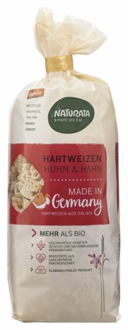 NATURATA Huhn&Hahn Kindernudeln, Hartweizen hell 12x250g