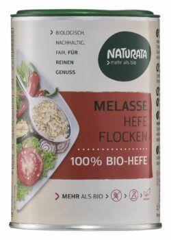 NATURATA Melasse Hefeflocken, 100 % Bio-Hefe 6x100g
