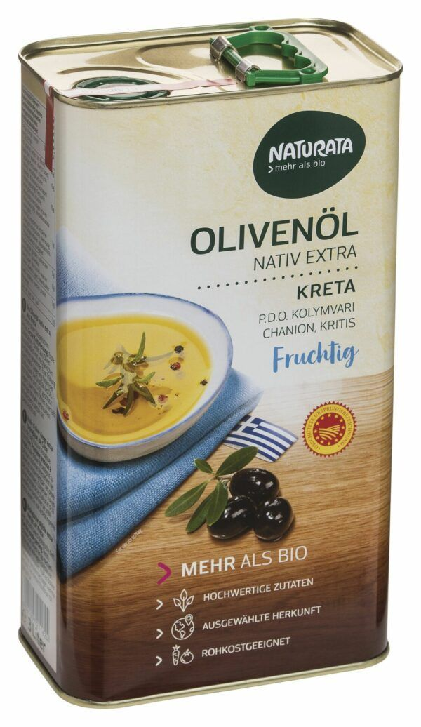 NATURATA Olivenöl Kreta PDO nativ extra, Bulk 3l