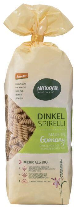 NATURATA Spirelli, Dinkel hell 9x500g