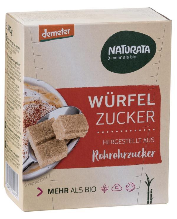 NATURATA Würfelzucker aus Rohrohrzucker 500g