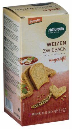 NATURATA Weizen-Zwieback, ungesüßt 6x150g