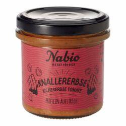 Nabio Protein-Aufstrich Knallererbse Kichererbse Tomate 6x140g