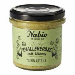 Nabio Protein-Aufstrich Knallererbse Erbse Basilikum 6x140g