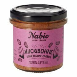 Nabio Protein-Aufstrich Muckibohne Kidneybohne Paprika 6x140g