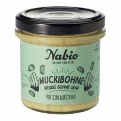 Nabio Protein-Aufstrich Muckibohne Weiße Bohne Senf 6x140g