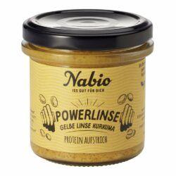 Nabio Protein-Aufstrich Powerlinse Gelbe Linse Kurkuma 6x140g