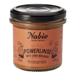 Nabio Protein-Aufstrich Powerlinse Rote Linse Walnuss 6x140g