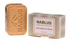 Nablus Soap Olivenölseifen Nablus Soap Natürliche Olivenseife Damaskus Rose 100g