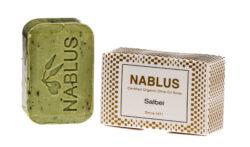 Nablus Soap Olivenölseifen Nablus Soap Natürliche Olivenseife Salbei 100g