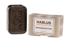 Nablus Soap Olivenölseifen Nablus Soap Natürliche Olivenseife Schwarzkümmel 100g