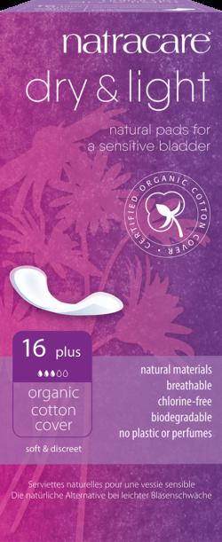 Natracare Dry & Light Inkontinenzeinlage Plus 16 St 6x16Stück
