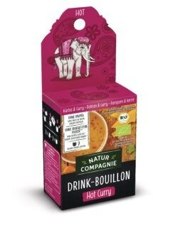 Natur Compagnie Drink Bouillon Hot Curry 6x45g