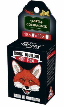 Natur Compagnie Drink Bouillon Hot Fox - Curcuma & Chili 6x63g